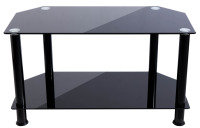 Xenta Black Glass TV Stand (Max Weight 40kg)