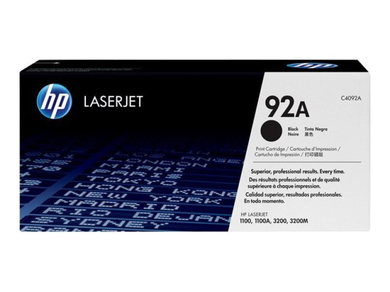 HP 92A Black Toner Cartridge 2500 Pages - C4092A