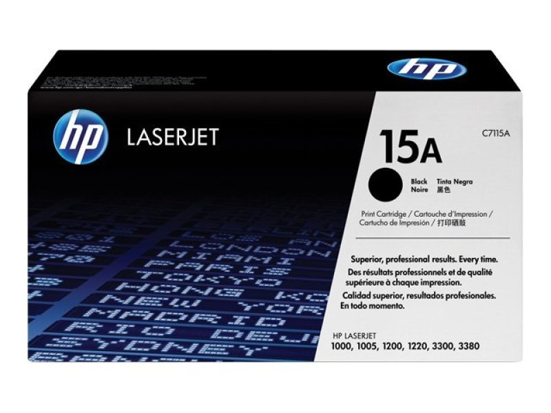 HP 15A Black Toner Cartridge 2500 Pages - C7115A