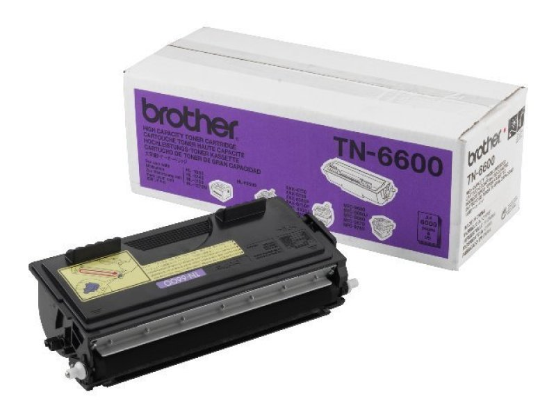 Brother TN-6600 Black Toner Cartridge 6000 Pages