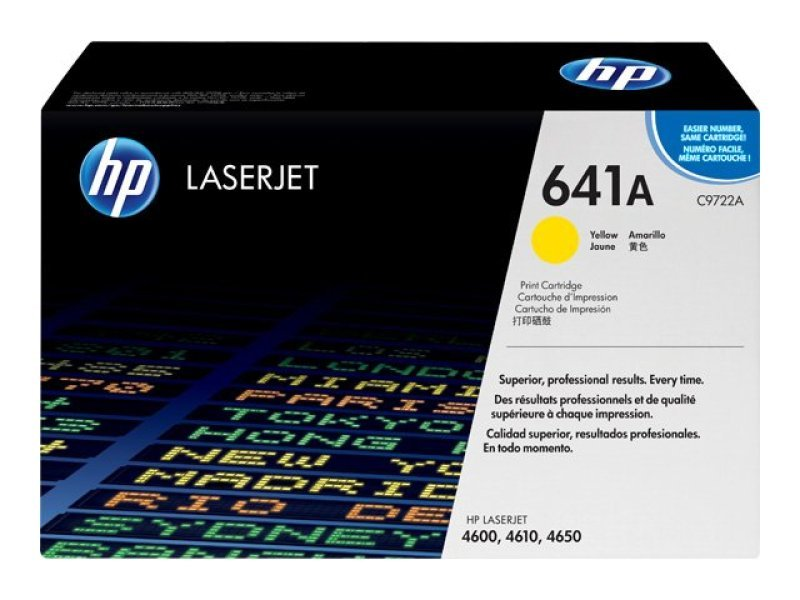 HP 641A Yellow Toner Cartridge 8000 Pages - C9722A