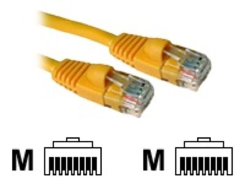 C2G, Cat5E 350MHz Snagless Patch Cable Yellow, 0.5m