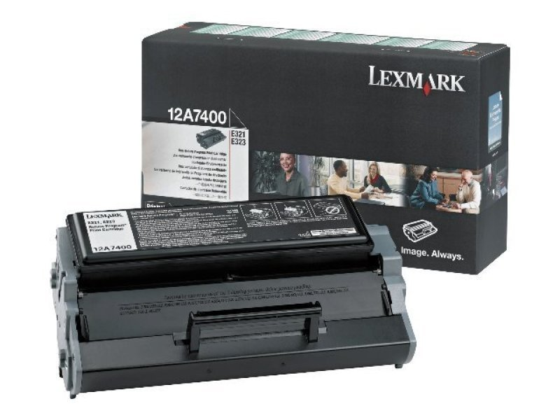 Lexmark 12A7400 Black Toner Cartridge 3k Pages - E321 E323