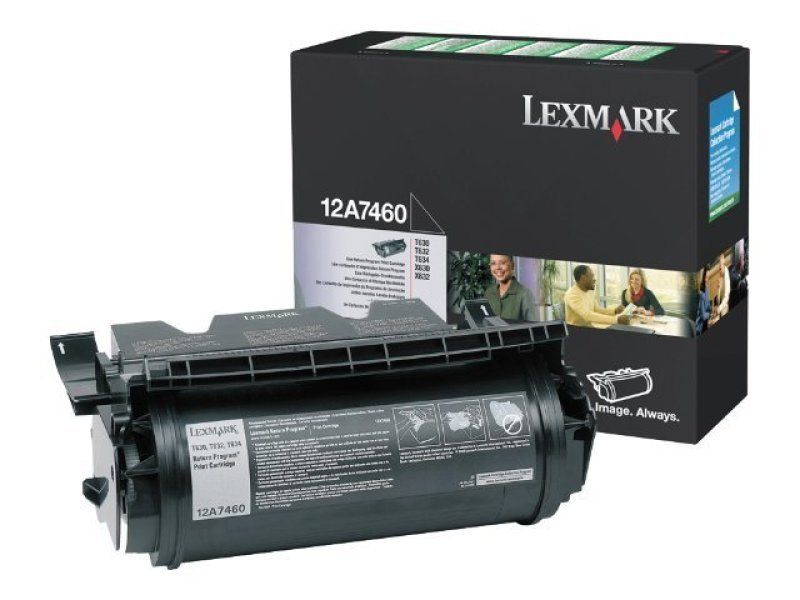 Lexmark Black Return Program Print Cartridge 0012A7460