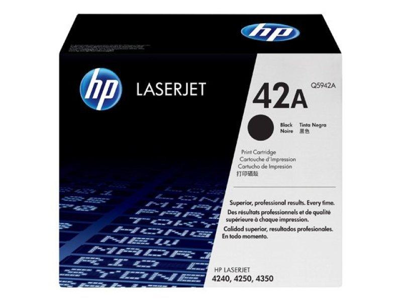 HP 42A Black Toner Cartridge 10,000 Pages - Q5942A