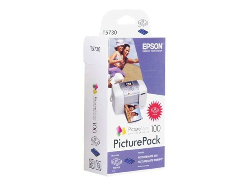 Epson T573040 PictureMate 100 PicturePack (1 x PictureMate Cartridge + 135 Sheets of PhotoPaper)