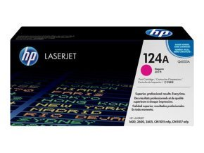 HP 124A Magenta Toner Cartridge 2000 Pages - Q6003A