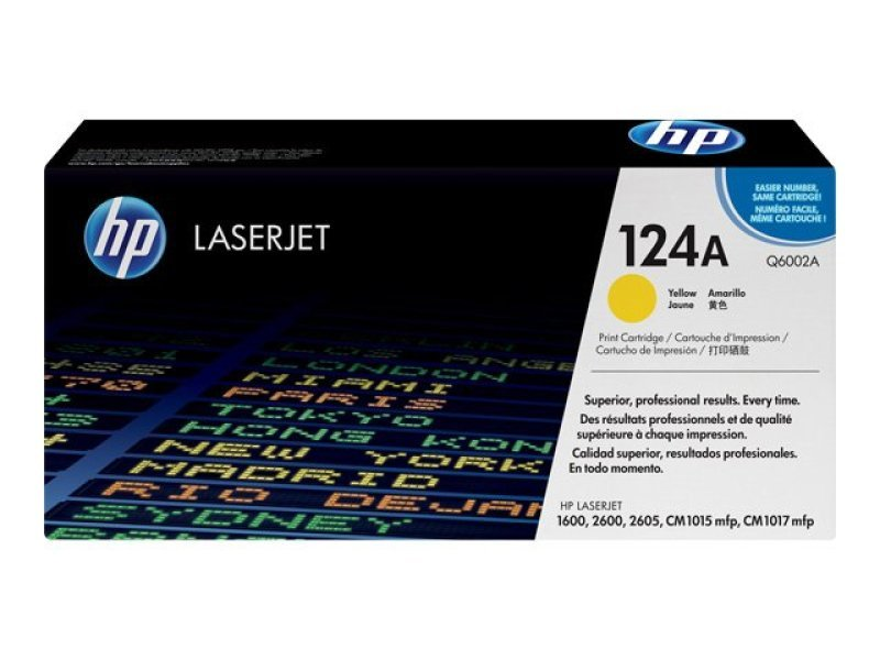 *HP 124A Yellow Toner Cartridge - Q6002A