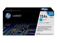 HP 124A Cyan Toner Cartridge 2000 Pages - Q6001A