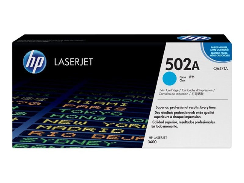 *HP 502A Cyan Toner Cartridge - Q6471A