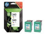HP 343 Colour Twin Pack Ink Cartridge - CB332EE
