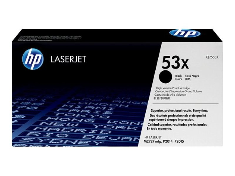 *HP 53X Black Toner cartridge - Q7553X