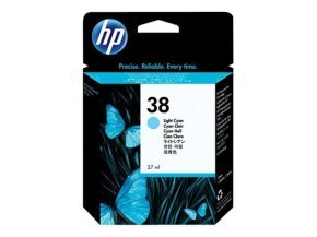 *HP 38 27ml Pigmented Light Cyan Ink Cartridge - C9418A