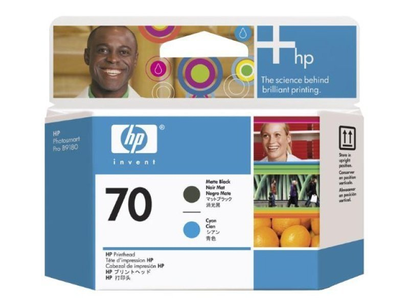 HP 70 Cyan and Matte Black Printhead - C9404A