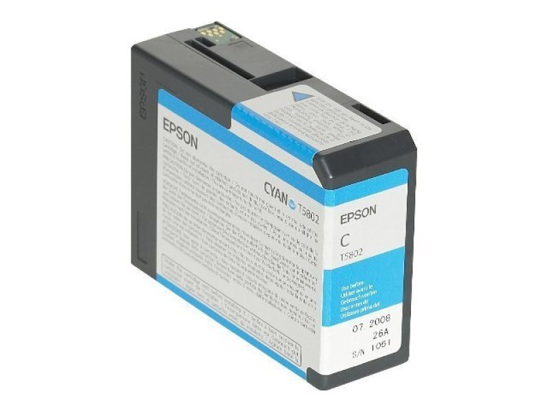 Epson T5802 80ml Cyan Ink Cartridge