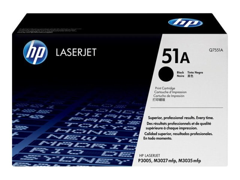 HP 51A Black Toner Cartridge 6500 Pages - Q7551A