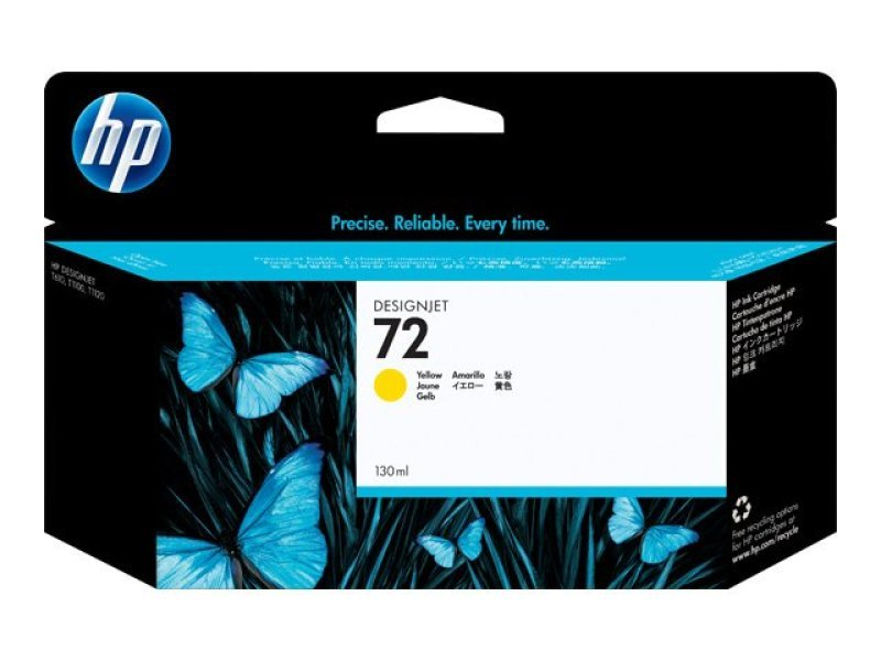 HP 72 Yellow OriginalInk Cartridge - High Yield 130ml - C9373A