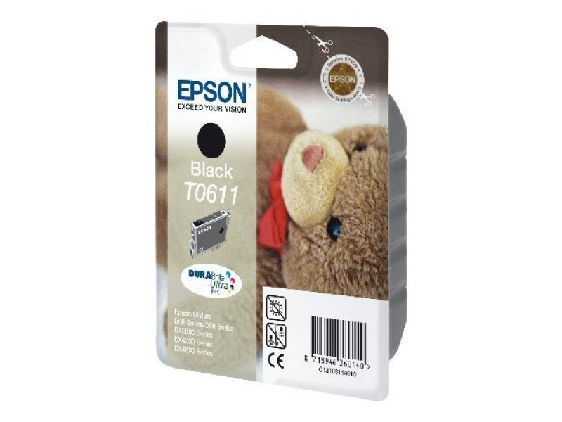 Epson T0611 Pigmented Black Ink Cartridge
