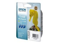 Epson T048 Multi Ink Cartridge Pack (Light Magenta, Light Cyan, Light Yellow) 430 Pages