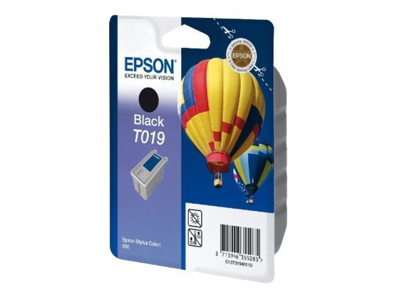 Epson T019 24ml Black Ink Cartridge 900 Pages