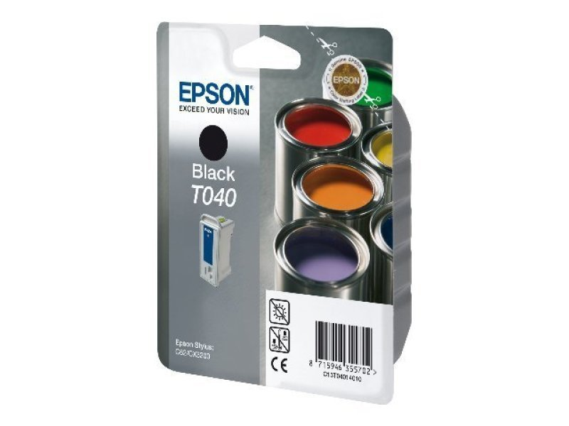 Epson T040 17ml Black Ink Cartridge 420 Pages