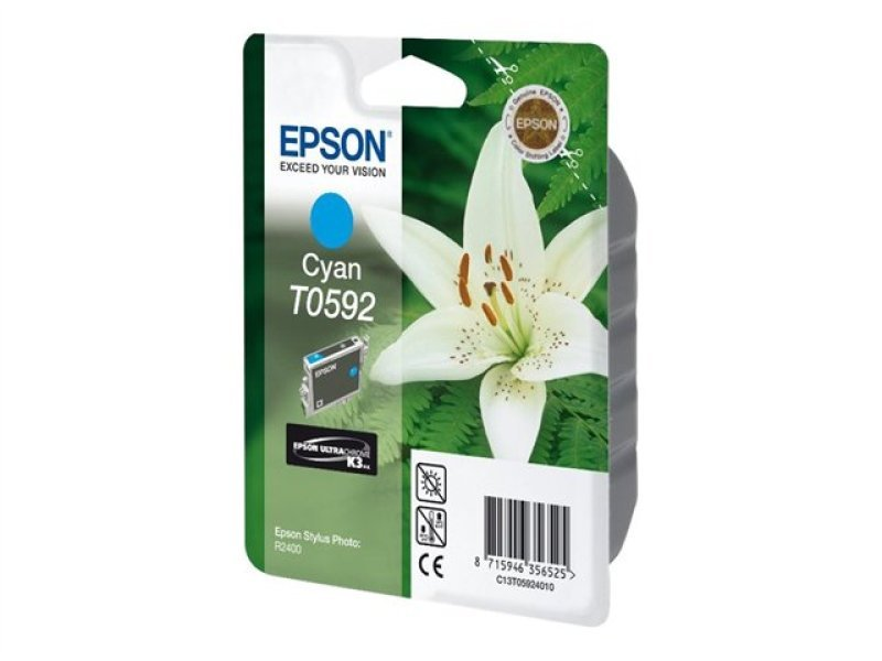 Epson T0592 13ml Cyan Ink Cartridge