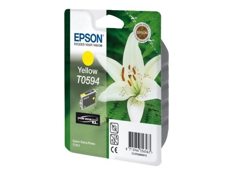 Epson T0594 13ml Pigmented Yellow Ink Cartridge