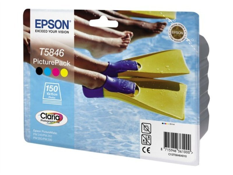 *Epson PicturePack T5846 Print Cartridges and Photo Paper Kit