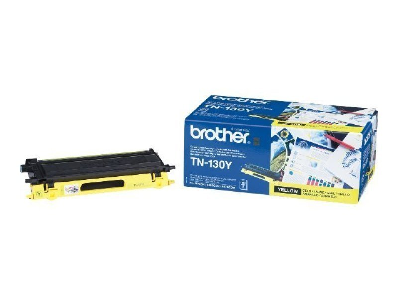 Brother TN-130Y Yellow Toner Cartridge - 1,500 Pages