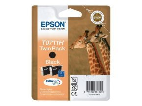 Epson T0711 High Capacity Twin pack Black Ink Cartridge