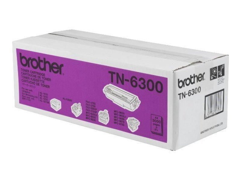 Brother TN-6300 Black Toner Cartridge - 3,000 Pages