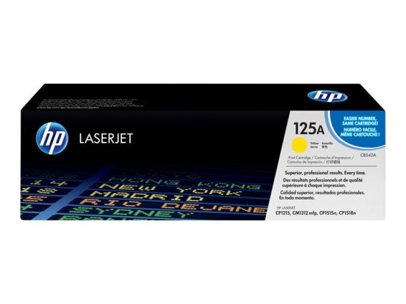 HP 125A Yellow Toner Cartridge - CB542A