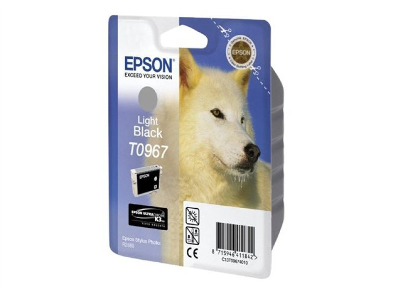 Epson T0967 11.4ml Light Black Ink Cartridge 6210 Pages