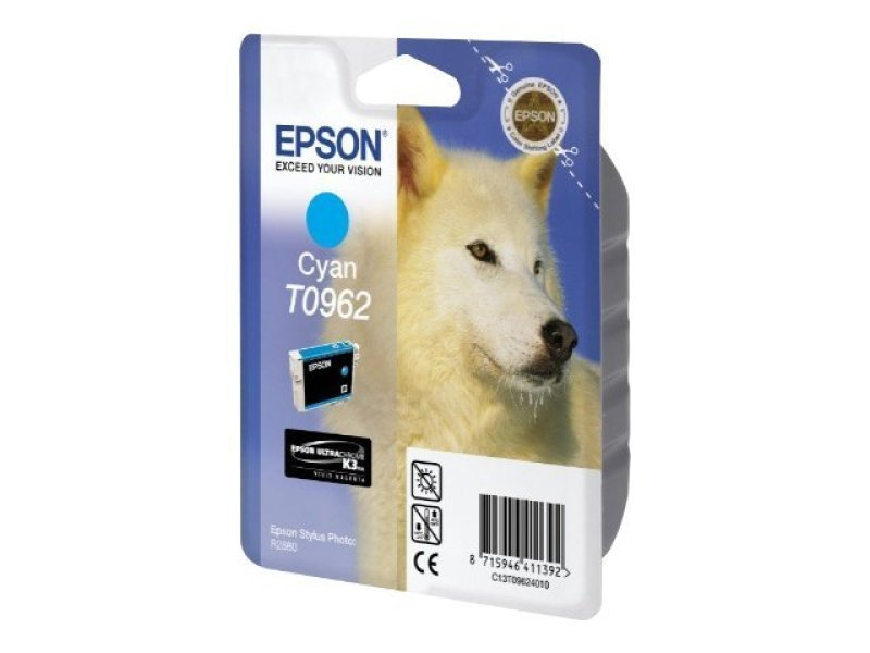 Epson T0962 11.4ml Cyan Ink Cartridge 1505 Pages