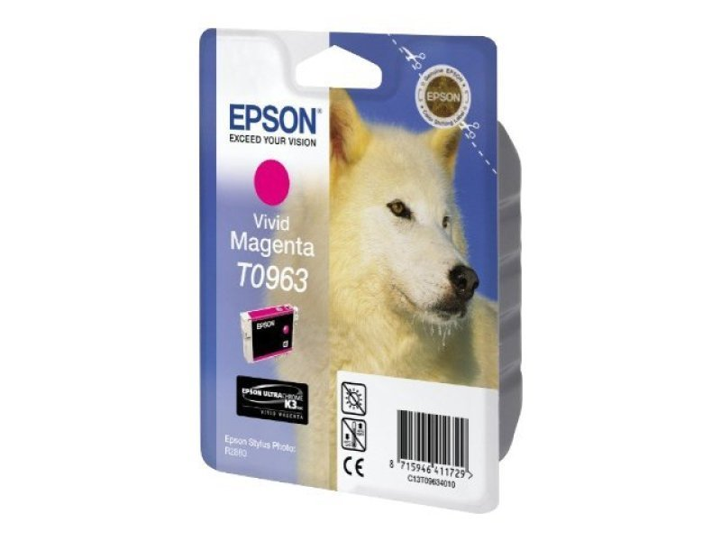 Epson T0963 11.4ml Vivid Magenta Ink Cartridge 865 Pages