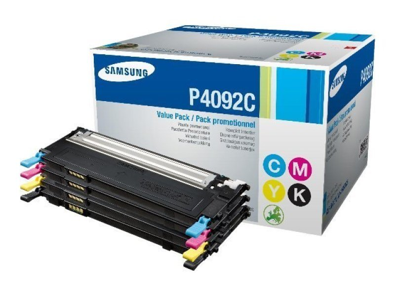 Samsung CLT-P4092C Rainbow (CMYK) Toner Cartridge - 1,500 Pages