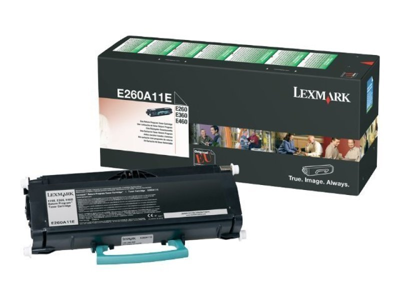 *Lexmark E260, E360, E460 Return Program Toner Cartridge (3,500 Pages)