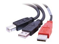 C2G, USB 2.0 B Male to USB A Male Y-Cable 2m