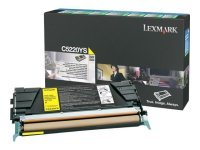 Lexmark C522 Yellow Return Program Toner Cartridge C5220YS