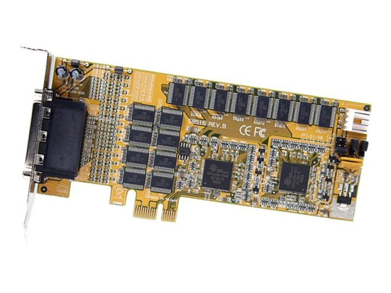 StarTech.com 16 Port Low Profile RS232 PCI Express Serial Card - Cable Included - PCIe RS232 Serial Card