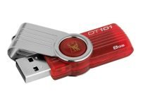Kingston 8GB DataTraveler 101 G2 Red USB Flash Drive