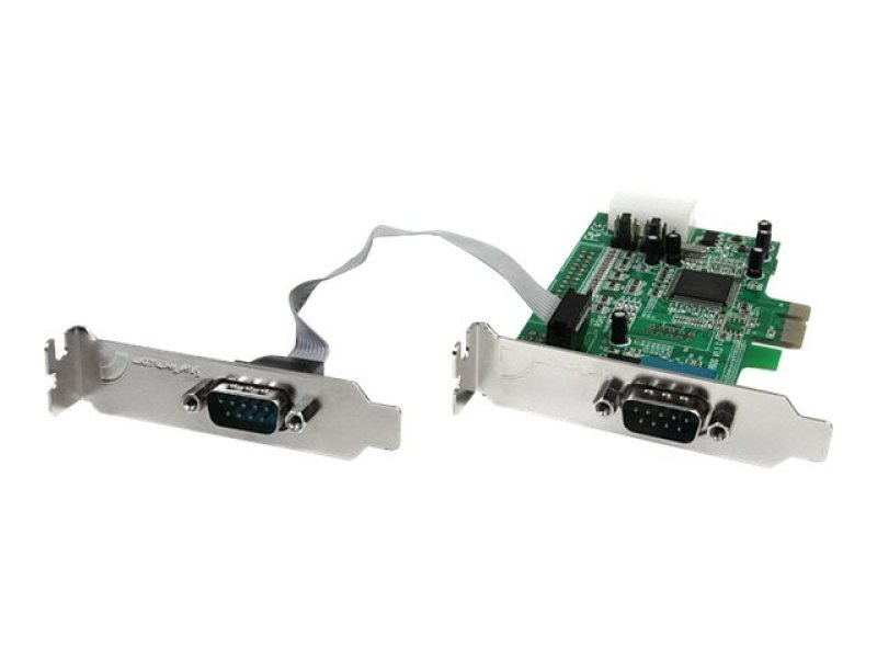 StarTech.com 2 Port Low Profile Native RS232 PCI Express Serial Card with 16550 UART - PCIe RS232 - PCI-E Serial Card