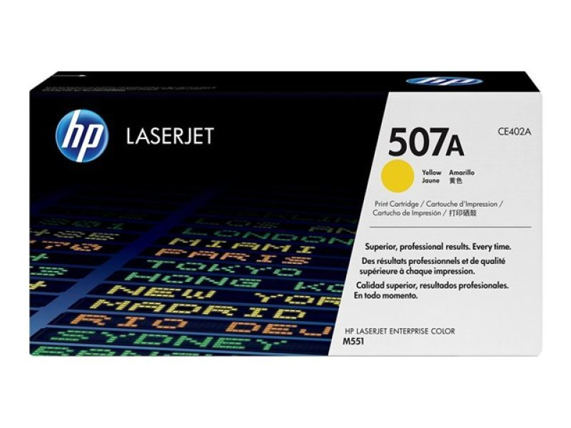 HP 507A Yellow Toner Cartridge - CE402A