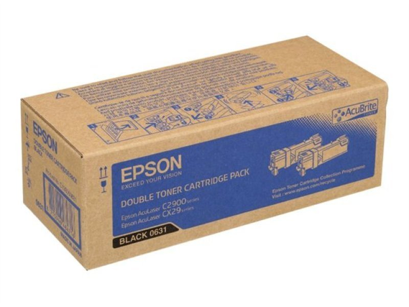 Epson AL-C2900N Double Toner Cartridge Black 3kx2