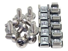 StarTech.com 50 Pkg M6 Mounting Screws & Cage Nuts for Server Rack Cabinet