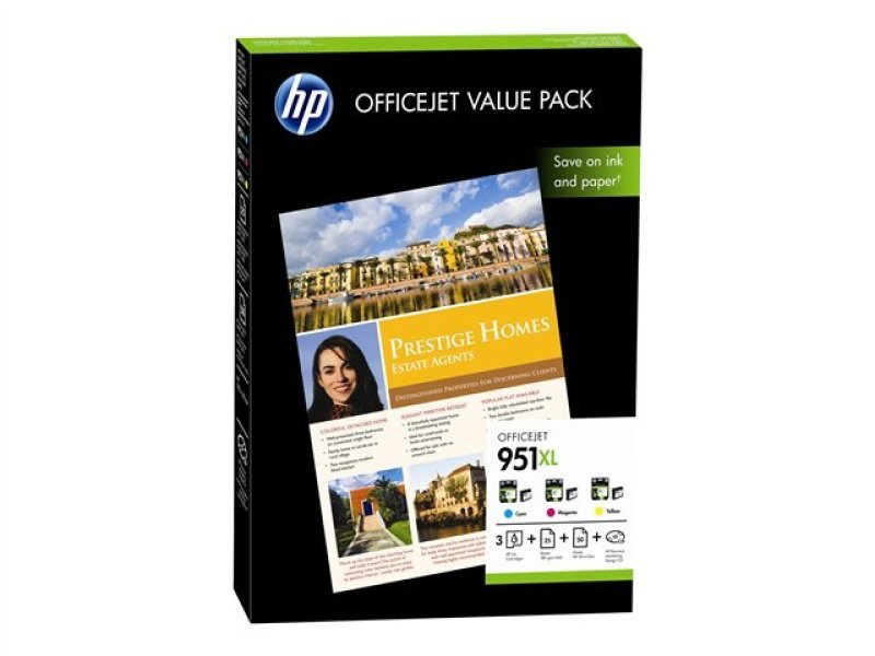 HP 951XL Officejet Value Pack Ink cartridge / paper kit - CR712AE