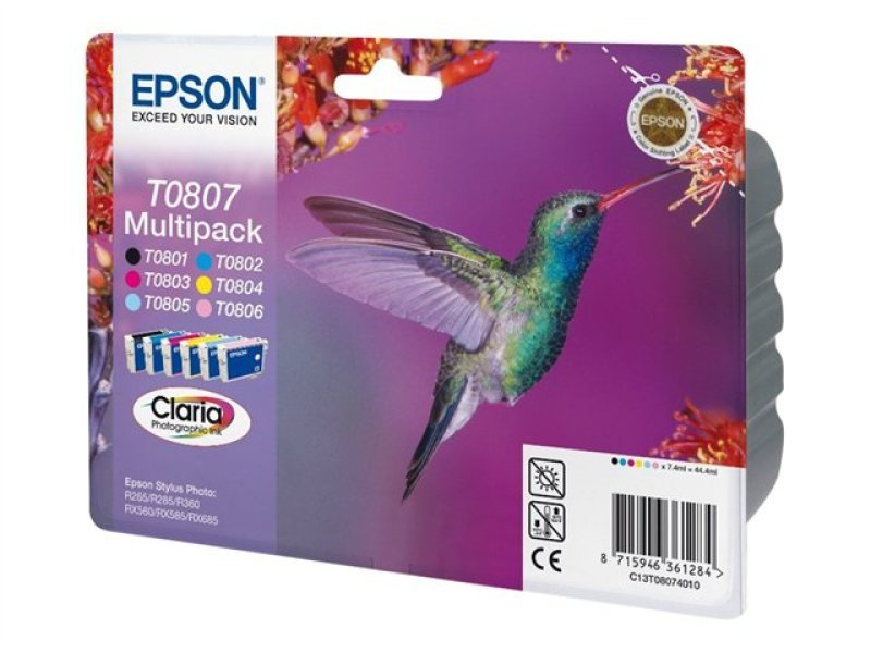 Epson T0807 Multipack Ink Cartridges