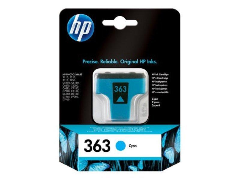 HP 363 Cyan OriginalInk Cartridge - Standard Yield 400 Pages - C8771EE