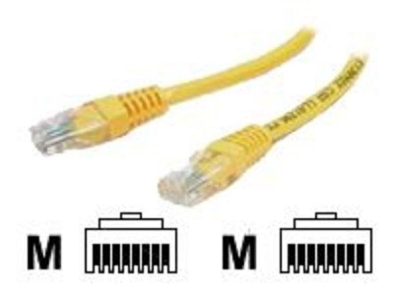 StarTech.com 2 ft Cat5e Yellow Molded RJ45 UTP Cat 5e Patch Cable - 2ft Patch Cord - 2ft Molded Patch Cable