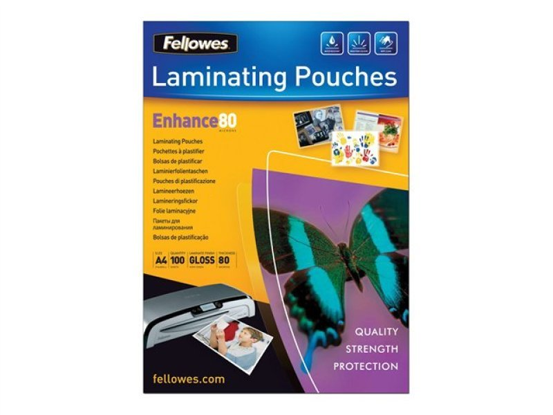 Fellowes Laminating Pouches A4 160 Micron 100 Pack